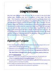 Registration and Participation - Gymkhana