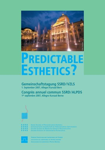 PREDICTABLE ESTHETICS? - SSRD