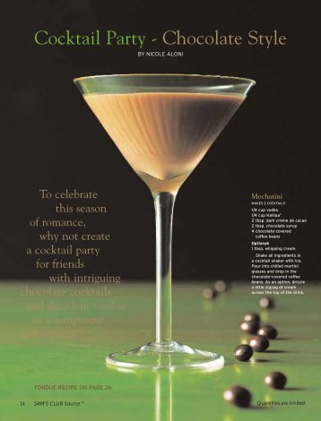 Cocktail Party - Chocolate Style - Nicole Aloni