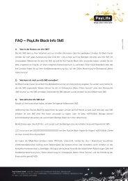FAQ – PayLife Black Info SMS - Kreditkarte.at