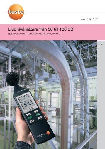 testo 815/816 - Nordtec Instrument AB