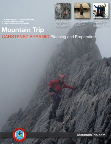 Carstensz Information Booklet - Mountain Trip