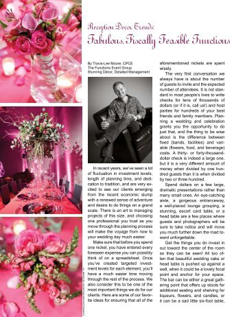Fabulous, Fiscally Feasible Functions - Bride and Groom Magazine
