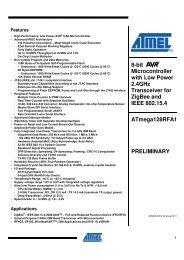ATmega128RFA1 8-bit Microcontroller with Low Power 2.4GHz ...