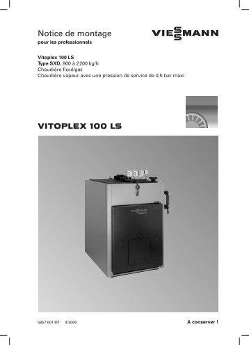 VITOPLEX 100 LS Notice de montage