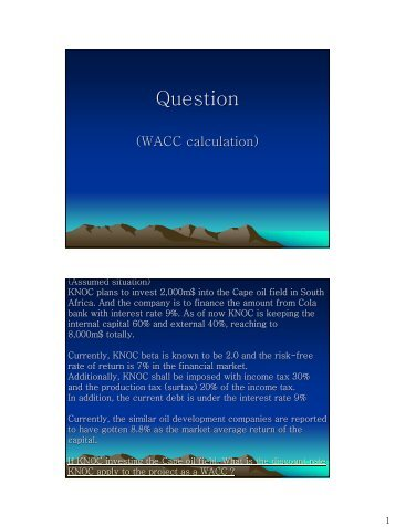 Question (WACC calculation) - CCOP