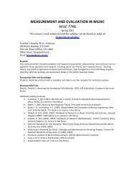 MEASUREMENT AND EVALUATION IN MUSIC MUE 7746