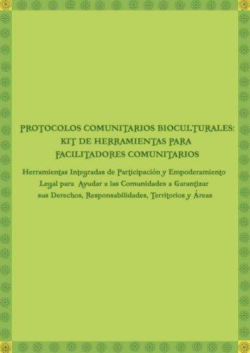 PROTOCOLOS COMUNITARIOS BIOCULTURALES - Natural Justice