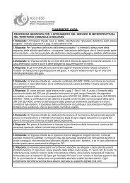 CHIARIMENTI GARA - Betrieb für Sozialdienste Bozen