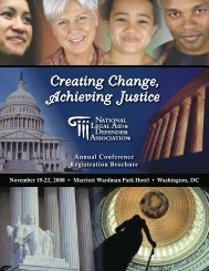Annual Conference 2008 Brochure - National Legal Aid & Defender ...