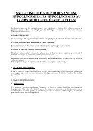 XXII - CONDUITE A TENIR DEVANT UNE HYPOGLYCÉMIE (LES ...