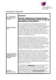 Themenschwerpunkt 2013 EXZESS - IFFF Dortmund|Köln