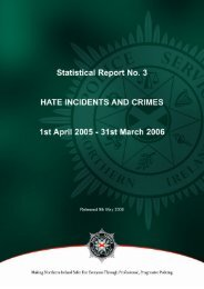 Hate Incidents and Crimes 2005/06 - Police Service of Northern ...