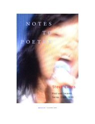Notes to Poetry - Third Factory