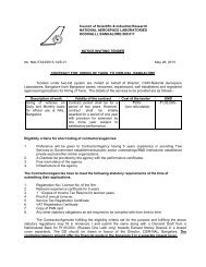 Contract for Hiring of Taxis to CSIR-NAL, Bangalore - National ...