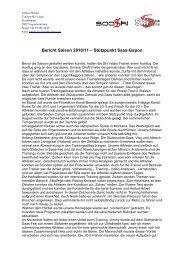 Bericht Saison 2010/11 – Stützpunkt Saas-Gspon - Ski Valais