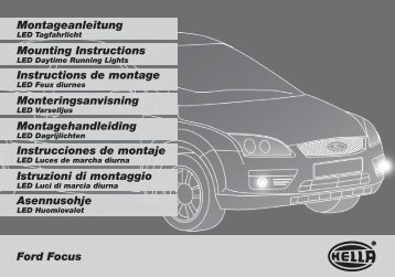 Ford Focus Montageanleitung Mounting Instructions Instructions de ...