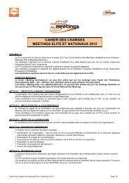 cahier des charges meetings elite et nationaux 2012 - Fédération ...