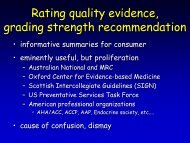 GRADE's approach to incorporation of resource use in clinical ...