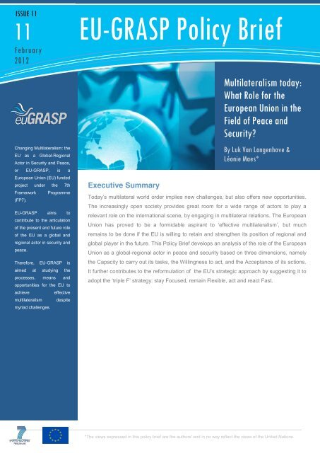 Multilateralism Today - United Nations University