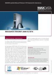 MAXDATA FAVORIT 2000 IU BTX