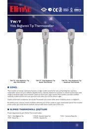 TW/T Vida Bağlantılı Tip Thermowell - Elimko