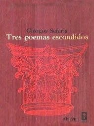 Seferis, Giorgos - Tres poemas escondidos