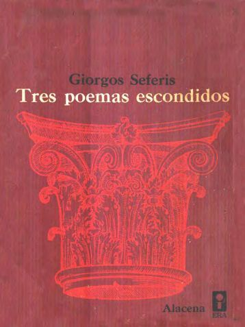 Seferis, Giorgos - Tres poemas escondidos