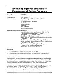Developing Improved Strategies for Management of Replant Problems