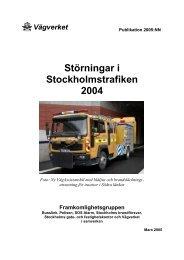 Störningar i Stockholmstrafiken 2004 - Movea Trafikkonsult AB