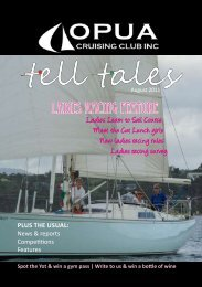 Tell Tales August 2011 - Opua Cruising Club