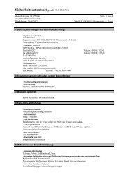 Sicherheitsdatenblatt gemäß 91/155/EWG - iso-elektra