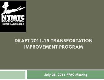 draft 2011-15 transportation improvement program - New York ...