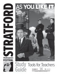 study guide for As You Like It - Stratford Festival