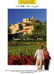 Culture du Vaucluse - Un coin Tranquille en Provence L'OUSTAOU ...