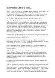 Interview von Rainer Fromm mit Dr. Jürgen Fritz Prof ... - Theater Ulm