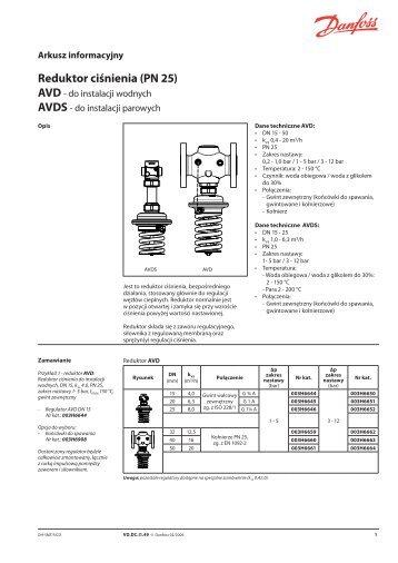 Reduktor ciśnienia (PN 25) - Danfoss