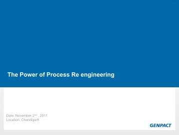 The Power of Process Re engineering - eGovReach