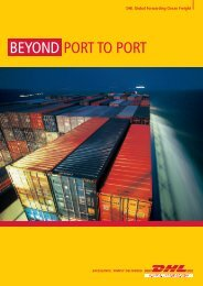 Download DHL Ocean Freight Brochure