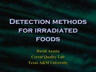 Detection methods of irradiated foods