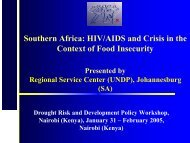 Southern Africa: HIV/AIDS and Crisis in the - Disaster risk reduction