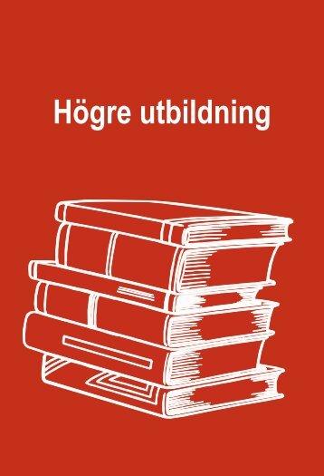 Högre utbildning (pdf) - Statistiska centralbyrån