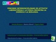 Percorsi interdisciplinari ed attività laboratoriali - Comunicare Fisica