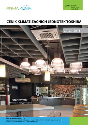 ceník klimatizačních jednotek toshiba - PRIMA - KLIMA Pardubice