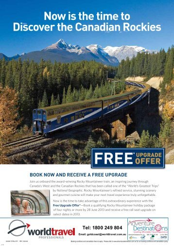 Now is the time to Discover the Canadian Rockies - World Travel ...