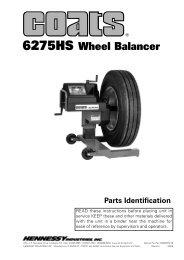 Coats 6275HS Hand Spin Truck Balancer - NY Tech Supply