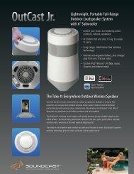Lightweight, Portable Full-Range Outdoor Loudspeaker System