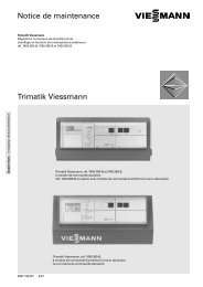 Notice de maintenance Trimatik Viessmann