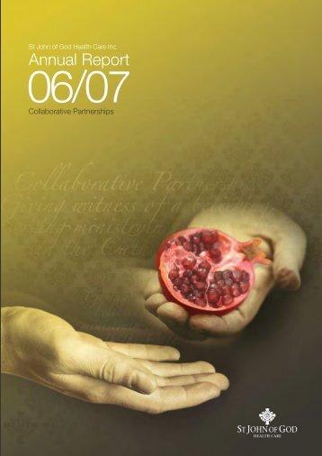 Annual Report - St John of God Health Care