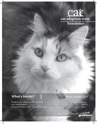 Spring 2011 and 2010 Annual Report (pdf) - Cat Adoption Team